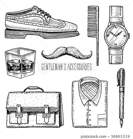 gentleman accessories. hipster or businessman 36801319