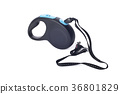 Automatic leash for dog on a white background 36801829