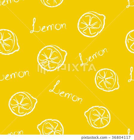 Seamless Pattern Yellow Lemon  36804117