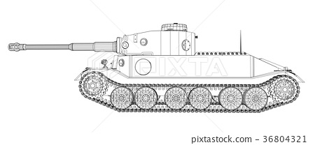 Blueprint of realistic tank 36804321