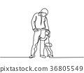 hug, daughter, father 36805549