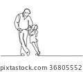 hug, daughter, father 36805552