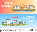 modern, flat, city 36806018