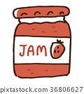 jam, strawberries, strawberry 36806627