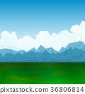 山峰 自然 景色 36806814