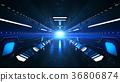 Speedy and Dark Subway Tunnel 36806874