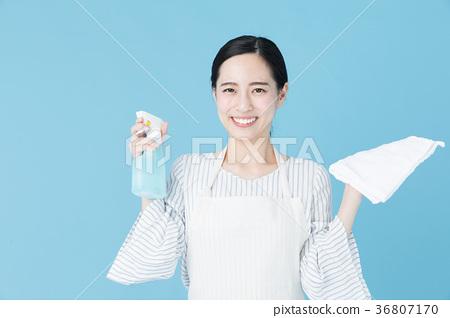 여성 블루 백 이미지 36807170