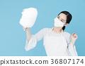 여성 블루 백 이미지 36807174