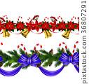 christmas, decoration, border 36807291