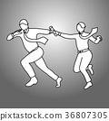 Businesspeople passing relay Baton vector  36807305