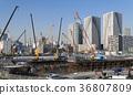 Large-scale construction site Harumi 36807809