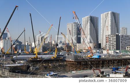 大型建築工地Harumi 36807809