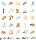 Operand icons set, cartoon style 36810550