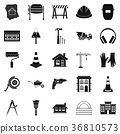 Undertaking icons set, simple style 36810573