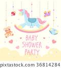 cartoon baby shower 36814284