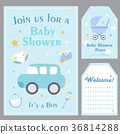 baby, shower, car 36814288