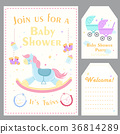 cartoon baby shower 36814289