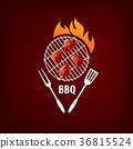logo, barbecue, vector 36815524