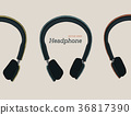 hand draw headphone sketch vector. 36817390