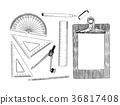 set of stationary , hand draw element vector. 36817408