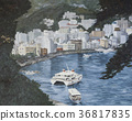 Oil Painting, cityscape, boat 36817835