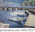 Oil Painting, bay, harbour 36817837