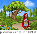 Little Red Riding Hood Cartoon Scene 36818934