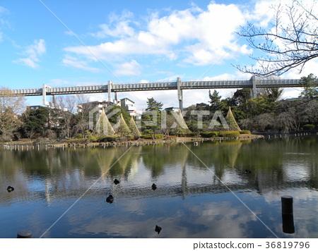 yukitsuri, monorail, water surface 36819796