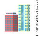 city building vector 36819958