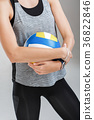 volleyball in the hands of a woman 36822846
