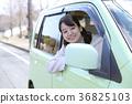 운전하는 여자 36825103