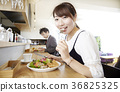 One person lunch, eating scene, girl 36825325