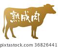 書法作品 牛肉 奶牛 36826441