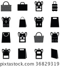 bag icon set 36829319