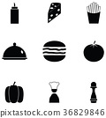 burger icon set 36829846