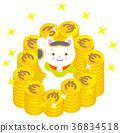 招财猫 钱币 欧元 36834518