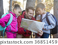 Teacher and kids reading map 36851459