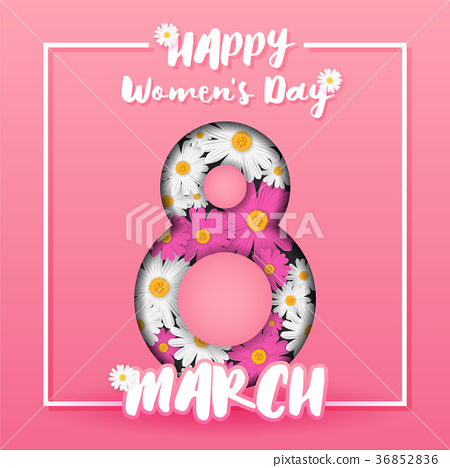 8 March International Women's Day Background 36852836