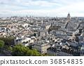 노트르담 성당에서 보는 파리 시내의 풍경 36854835