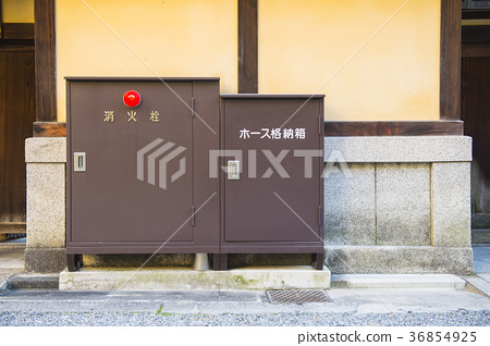 Outdoor fire hydrant equipment in Kyoto 36854925