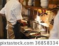 咖啡廳廚房工作人員烹 36858334