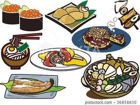 gunkan卷 稻荷寿司 关东煮 36858830
