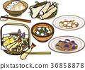 tempura, pork soup, wheat toro 36858878