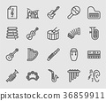 Musical Instrument line icon 36859911