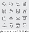 Office working line icon 36859914