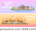 modern, flat, landscape 36861449