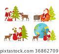 圣诞老人 圣诞老公公 驯鹿 36862709