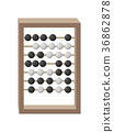 Counting Frame Isolated Illustration on White 36862878