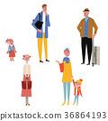가족 여행 일러스트 36864193