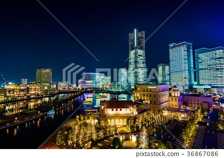 橫濱 夜晚 夜景 36867086